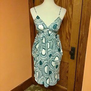 Classy dressy op art Trina Turk dress
